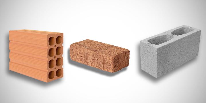 tijolos usados em construções